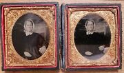 Rare Tintype Photos/older Woman Two Identical-almost Copiesandnbsp Twins Or...