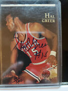 Hal Greer Signed 1996-97 Topps Stars Autograph 49/500 Signed Auto 76ers