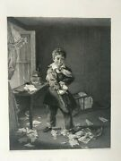 Vintage Print 1835 Fisher And Son The Young Destructive - Wrankmore