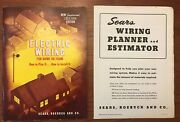 1953-54 Sears Roebuck Electric Wiring Booklet And 1949 Wiring Planner Estimator