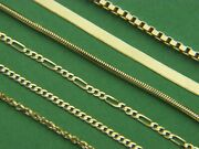 Solid 10k Yellow Gold Chain Necklace Box Rope Curb Figaro Chain Real Gold