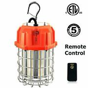100w Led Temporary Work Light Fixture Orange Construction Drop Light With Remote