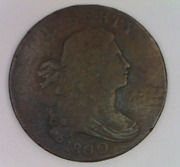 1800 / 79 Draped Bust Large Cent 80 Over 79 United States One Penny Liberty 1