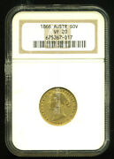 Australia Victoria 1866 Sydney Mint Gold Coin Sovereign Ngc Certified Vf 20 Rare