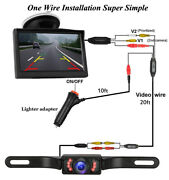 Vehicle Backup License Plate Camera And 5 Inch Lcd Monitor With Cigarette Lighter