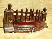 Fire Place Vintage Fret Guard Cast Iron Old Dampener Dust Grill Grate Knights..andnbsp