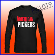 New American Pickers Mike Wolfe Tv Program Logo Antique Archaeology Long Sleeve