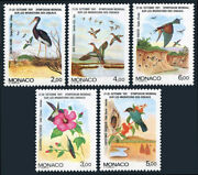 Monaco 1744-1748 Mnh. Migratory Birds And Their Continents 1991