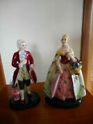 Vintage 12 Pair Of Man And Woman Figurines, French Revolution, Made In Italy