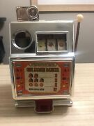 Vintage Medley Toy Slot Machine One Armed Banker Turquoise Rare Needs Work