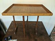 Antique Inlaid Marquetry Chess Game Board Tray Table