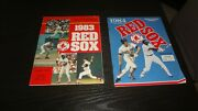 Lot Of 2 Boston Red Sox Scorebook Magazines 1/ 1984 And 1 / 1983 Both 1st Editions
