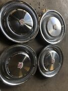 4 Cadillac Coupe Deville Sedan Deville 1974-1976. Oem Wheelcovers 99 Nice