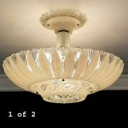 798b Vintage Antique Ceiling Glass Shade Light Lamp Fixture Chandelier 1 Of 2