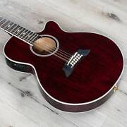 Takamine Tsp158c-12 Str Acoustic Electric 12-string Guitar W/ Case Red
