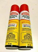Lot Of 12 Ronson Butane 75ml/2.54 Fl Oz Refill Fuel Gas For Lighters/ Torch /