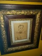 Antique 1800s Photo Of A Slave With Her Hair Penciled In Very Rare