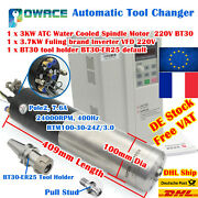 Cnc 3kw Bt30 220v Atc Automatic Tool Changer Water Cooling Spindle+3.7kw Vfd【fr】
