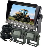 7 Rear View Backup Reverse 2-camera System For Skid Steer,truck, Tractor