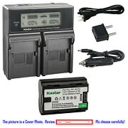 Kastar Battery Lcd Dual Fast Charger For Fuji Npw235 Rechargeable Li-ion Battery