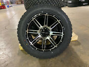 20x9 Helo He900 Black Machined Wheels 32 At Tires 6x5.5 Chevy Suburban Tahoe