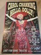 Hello Dolly Broadway Revival Signed Poster Carol Channing + 1995 Cast @ Palace