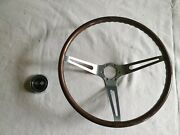 1963-67 Corvette Steering Wheel And Horn Cover. Original 16inch, Simulated Wood