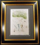 Salvador Dali Colored Engraving Tristian And Iseult Back Cover Included 1970