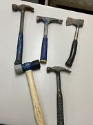 Lot Of 5 Estwing Hammers Claw Forged Steel And Stanley Camp Axe Made In Usa