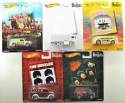 Beatles Hot Wheels 2016 Edition 5 In Set Sealed And Very Rare Beatles Covers