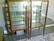 Sale Beautiful Matching Lighted Antique Mahogany Display Cases