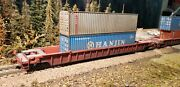 Walthers Ho 932-3944 Canadian Pacific Cp Nsc 3-unit 53' Well Car W/containers