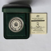 5 Sydney 2000 Silver Coin With Certificate Signed By Greg Chappell. Ab4/h2