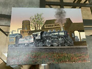 Artistic Interiors Inc Certified Oil Painting Toms River Train Station 16andrdquo X 12andrdquo