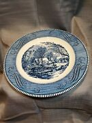 Lot Of 6 Vintage Currier Ives And039and039the Old Grist Milland039and039 By Royal Plate Made In Usa.
