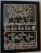 Haring Drawings Exhibit - And03982 Poster-promoting 10/9-11/13/82 Early Haring Show