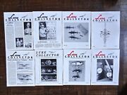 Vintage Lure Collector Magazine Lot Of 8 1985-1987 Antique Fishing Lures Ccw Etc