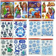 Christmas Stickers Decorations Xmas Window Wall Indoor Decorations