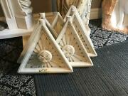 Beautiful Antique Carrara Church Architectural Panels From An Old Altar - Jj21