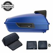 Blue Max Razor Tour Pack Trunk Pad Luggage For 1997-220 Harley Davidson Touring