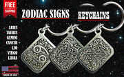 Zodiac Signs Keychain Key Ring Key Fob, Astrological Signs, Made In Usa