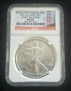 2011 S United States Early Release American Silver Eagle Ngc Ms69 1