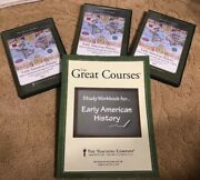 Great Courses Early American History Native Americans- 49ers Dvds+ Book