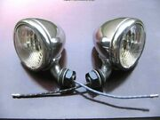 1933 34 Original Ford Cowl Lamp Light Pair Deuce Restored And Tested Good