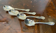 Antique Sterling Silver Brand Named Sugar Spoons 4