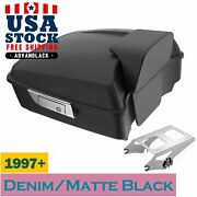 Us Stock Denim Black Chopped Tour Pack Trunk Luggage For 97-20 Harley Touring