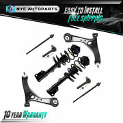 Front Struts + Lower Control Arms + Inner Outer Tie Rod For 08-18 Town And Country