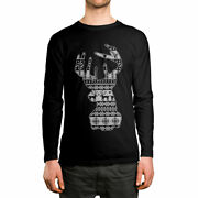 Reindeer Head Ugly Christmas Sweater Pattern Gift Long Sleeve Menand039s Shirt