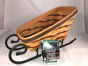 Longaberger 1997 Large Holiday Sleigh Basket Combo With Wrought Iron Runners