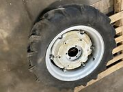 2 9.5 - 24 Ag Tires And Rims With Wheel Weights 6 Lug 5andrdquo Center Hole 6-1/2andrdquo C-c
